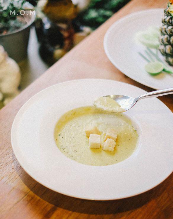 ซุปข้าวโพดผสมฟักทอง
